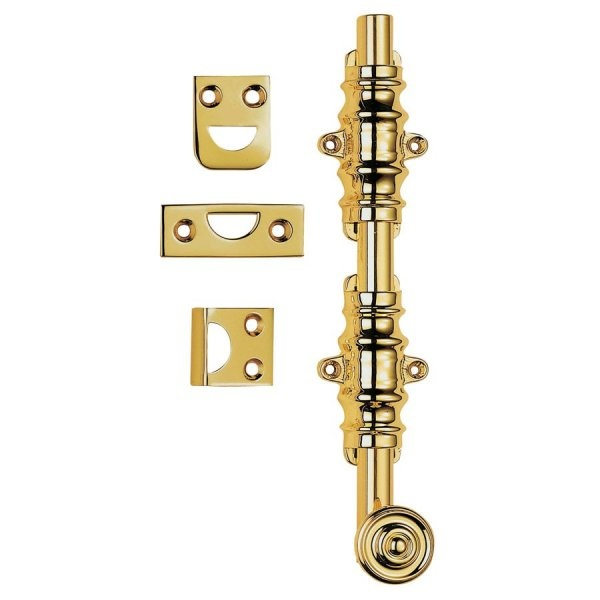 Architectural Surface Bolt - PB - Polished Brass 202mm