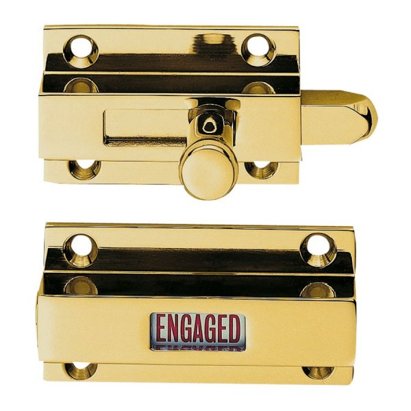 Bathroom Indicator Bolt - PB - Polished Brass