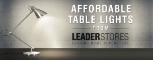 Table Lamps from Leader Stores