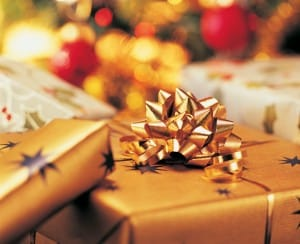 Close-Up of Christmas Presents