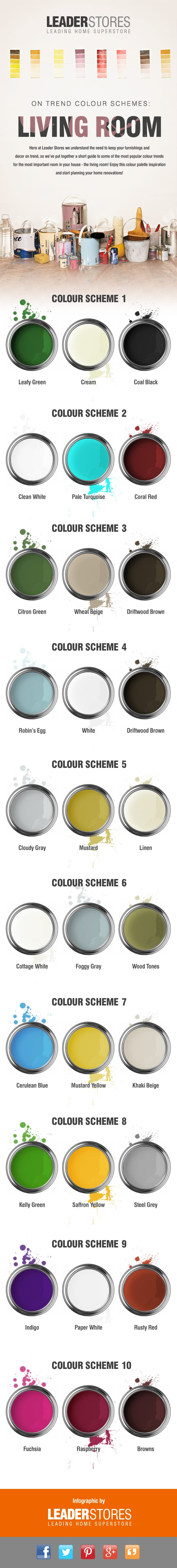 Living Room Colour Scheme Infographic