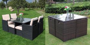 Discount Richmond Garden Rattan Cube Set