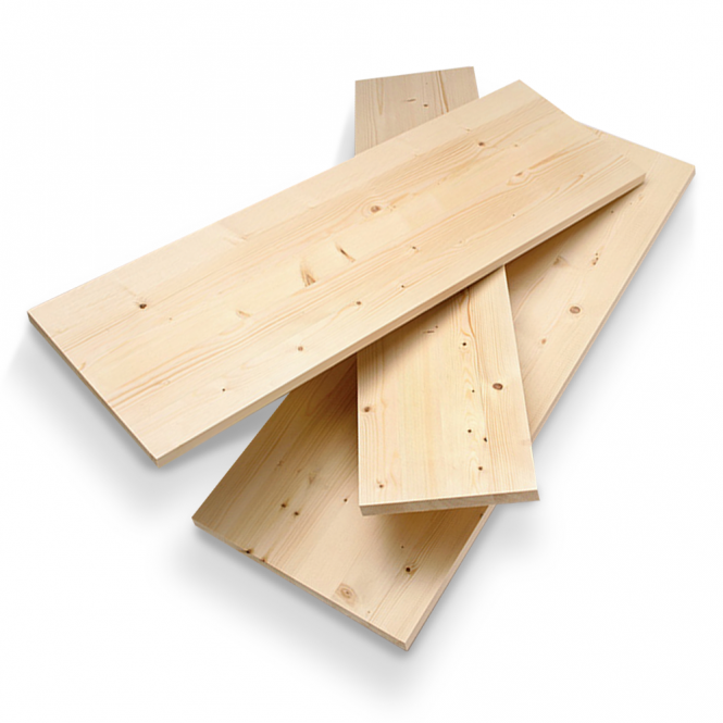 18mm Furniture Board, Solid Whitewood Pine