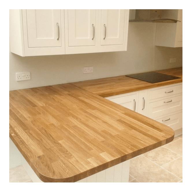 18mm Solid European Oak Furniture Board (2.4m), Euro Oak