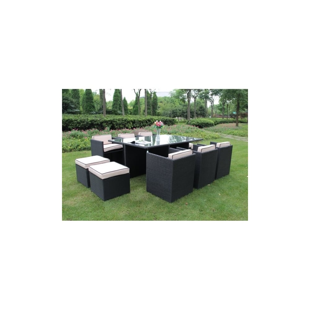 Richmond garden 2016 clearance rattan furniture verano cannes 6 seater black rattan cube patio - Garden furniture clearance ...