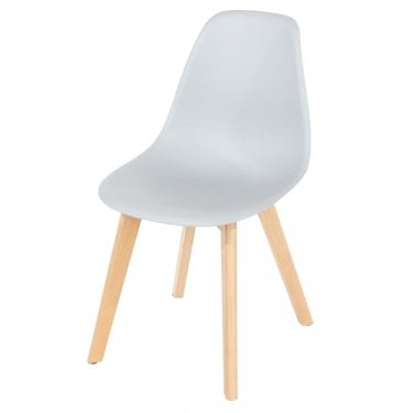4x Aspen Grey Plastic Occasional Chairs with Rubberwood Legs (ASCH5G)