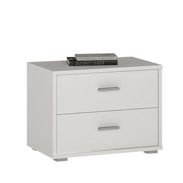 4You Pearl White 2 Drawer Low Chest