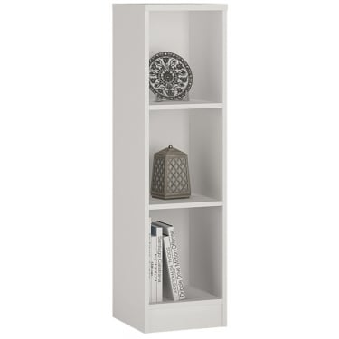 4You Pearl White Medium Narrow Bookcase