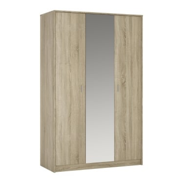 4You Sonama Oak 3 Door Mirrored Wardrobe