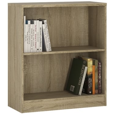 4You Sonama Oak Low Wide Bookcase