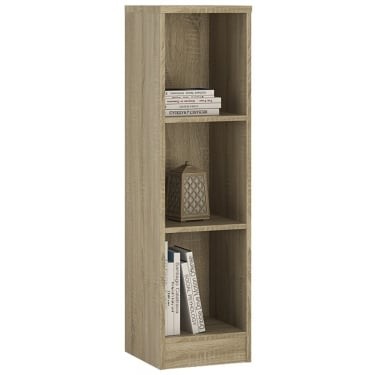 4You Sonama Oak Medium Narrow Bookcase