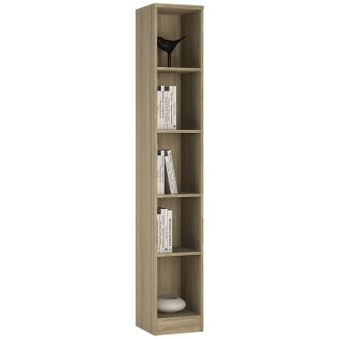 4You Sonama Oak Tall Narrow Bookcase