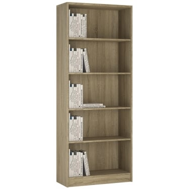 4You Sonama Oak Tall Wide Bookcase