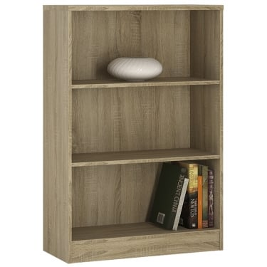 4You Sonama Oak Wide Bookcase
