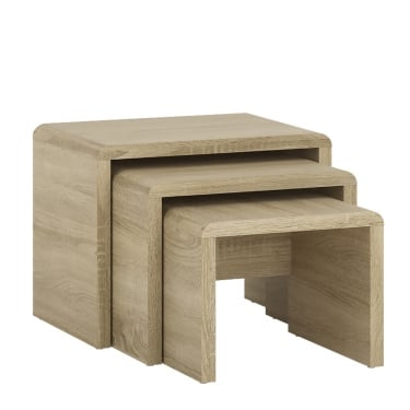 4You Sonoma Oak Small Nest Of Tables 3-Pack