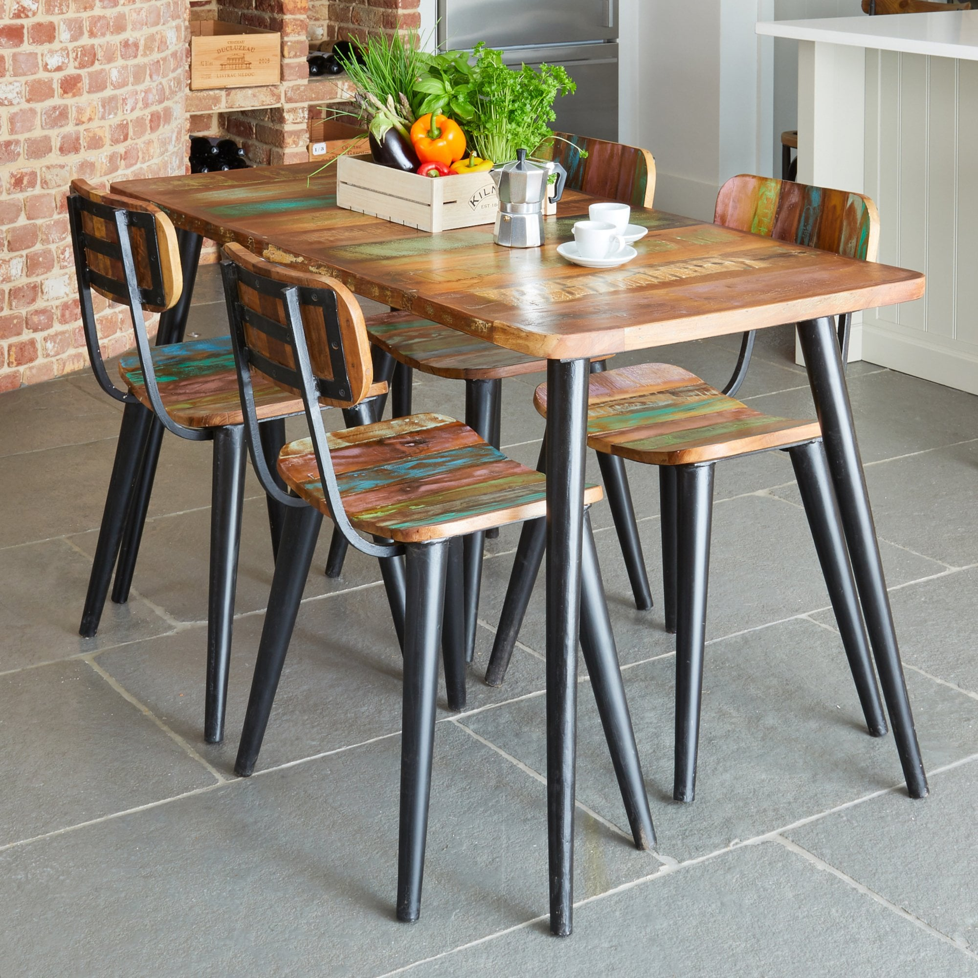 Picture of: Hugo Isaac Acaba Small Rectangular Dining Table Reclaimed Timber Leader Furniture