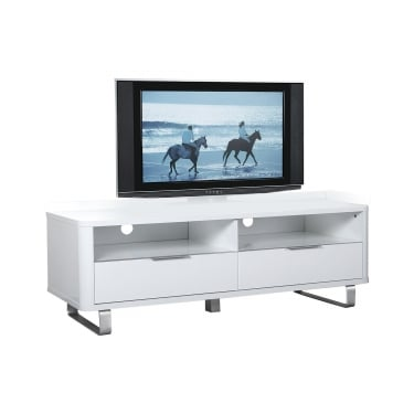 Accent High Gloss White 2 Drawer TV Unit