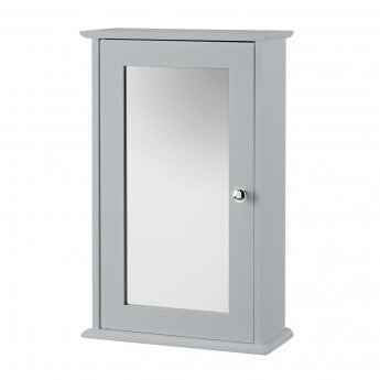 LPD Furniture Alaska Grey 1 Door Mirrored Wall Cabinet