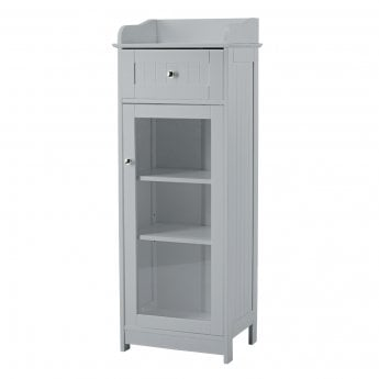 LPD Furniture Alaska Grey 1 Drawer 1 Door Storage Unit