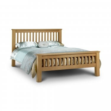 Amsterdam Waxed Oak Double High End Bed