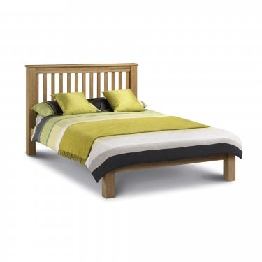 Amsterdam Waxed Oak Double Low End Bed