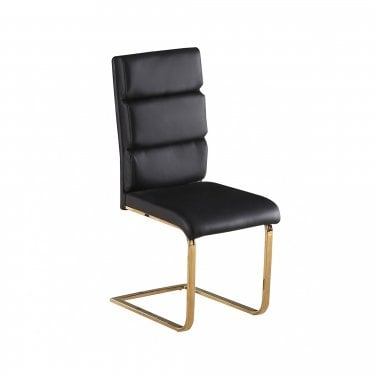 Antibes Black & Gold Dining Chair Pair
