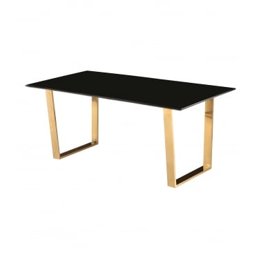 Antibes Black & Gold Dining Table
