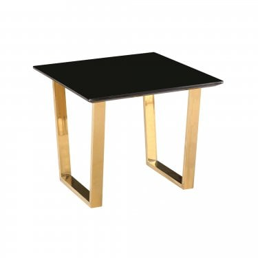 Antibes Black & Gold Lamp Table