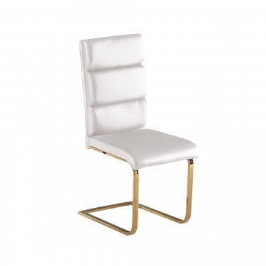 Antibes White & Gold Dining Chair Pair