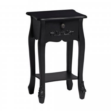 Antoinette 1 Drawer Matt Black Nightstand