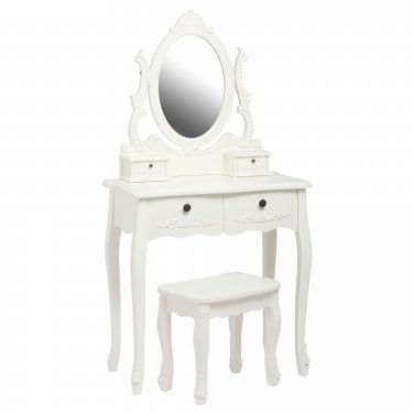 Antoinette Matt White Dressing Table Set