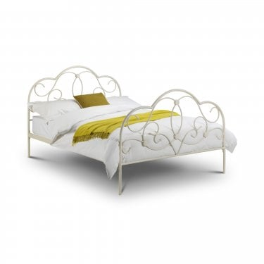 Arabella Stone White Double Bed