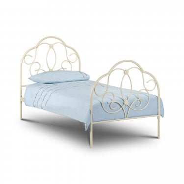 Arabella Stone White Single Bed