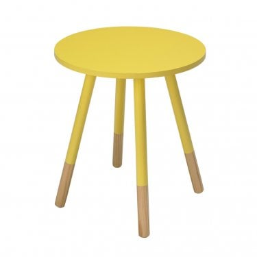 Ares Round Side Table, Yellow