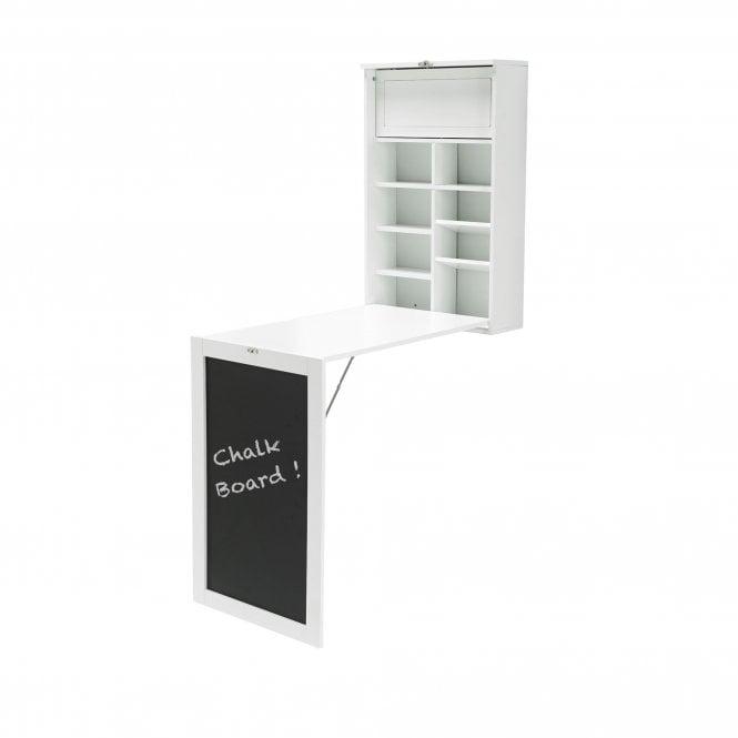 Arlo 1 Door Foldaway Wall Desk, White