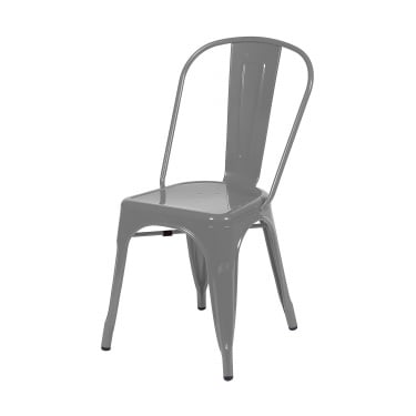 Aspen Grey Metal Occasional Chair Pair with Metal Legs