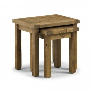 Aspen Rustic Pine Nest of Tables