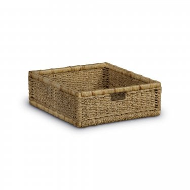 Aspen Rustic Pine Pair of Storage Baskets