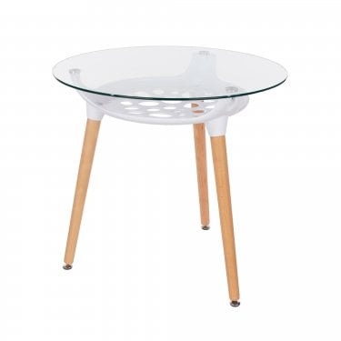 Aspen Two-Tone Round Dining Table