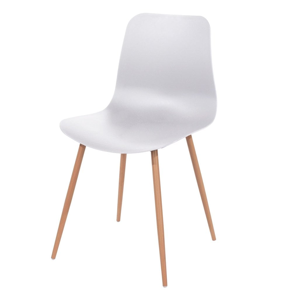 Core Products Aspen White Plastic Occasional Chair Pair