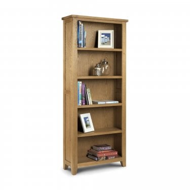 Astoria Waxed Oak Tall Bookcase