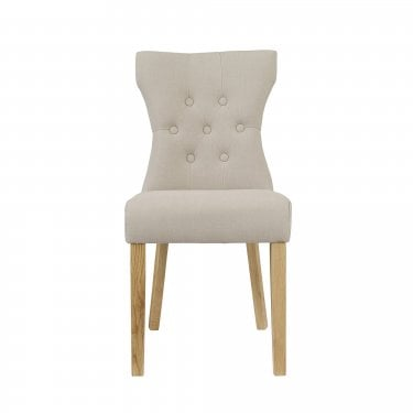 Athena Dining Chair Set Of 2, Beige