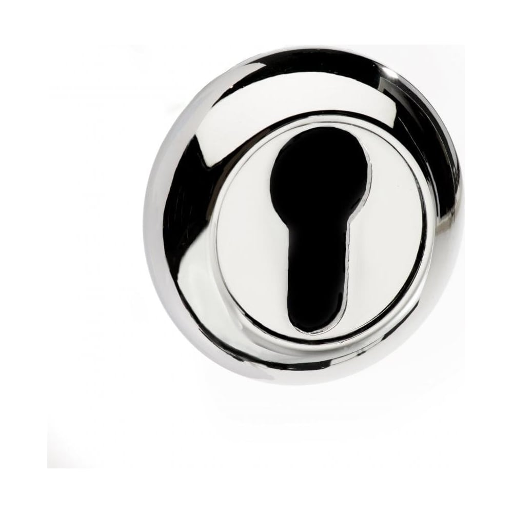 "Mediterranean ""C"" Euro Escutcheon - PC - Polished Chrome"