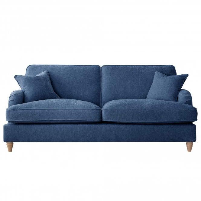 Aurora 3 Seater Sofa, Manhattan Navy Velvet