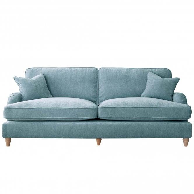 Aurora 4 Seater Sofa, Manhattan Lagoon Velvet