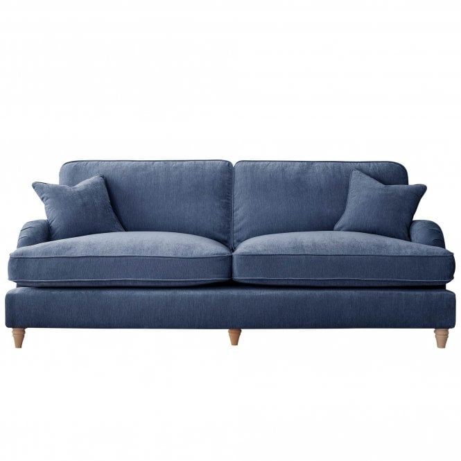 Aurora 4 Seater Sofa, Manhattan Navy Velvet
