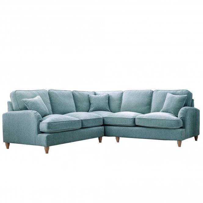Aurora Wide Corner Sofa, Manhattan Lagoon Velvet