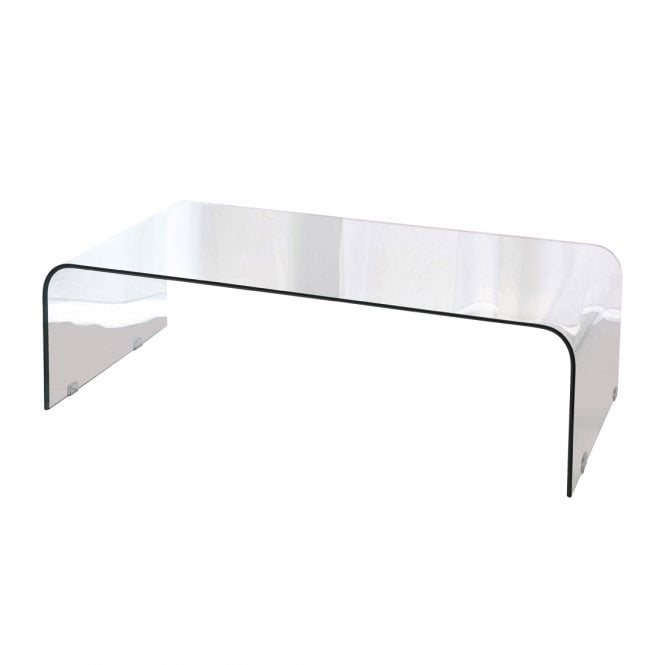 Lpd Furniture Accent White Coffee Table: LPD Furniture Azurro Glass Coffee Table