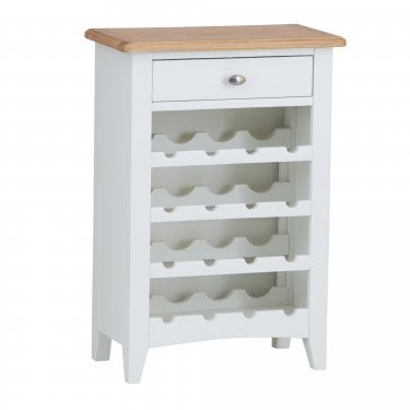 Bailey 1 Drawer Wine Cabinet, White