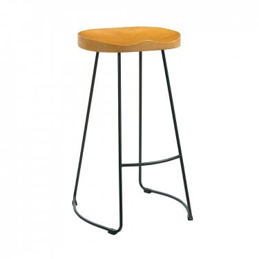 Bailey Pine & Black Bar Stool